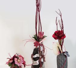 Fleurs tissus ,roses eternelles